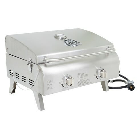 Pit Boss Grills 75275 Stainless Steel Two Burner Portable Grill