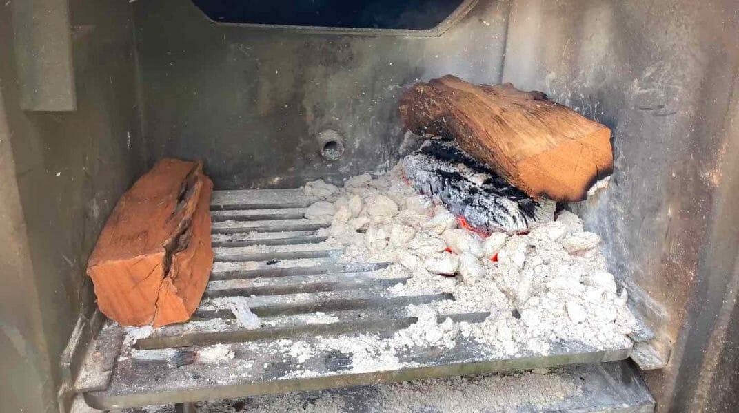offset smoker fire box