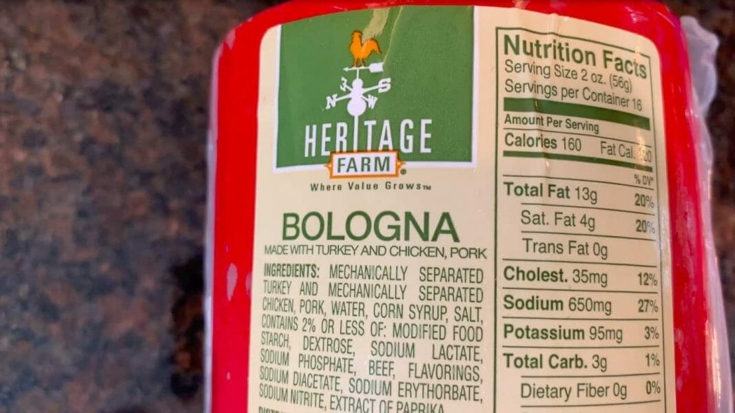 2 lb chunk of bologna