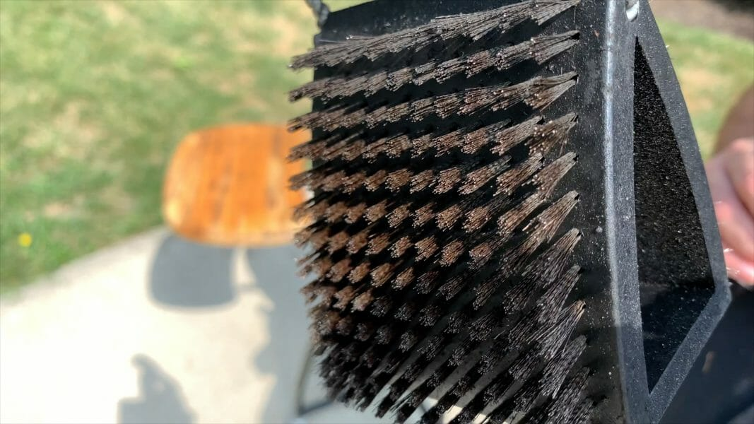 a standard metal grill brush