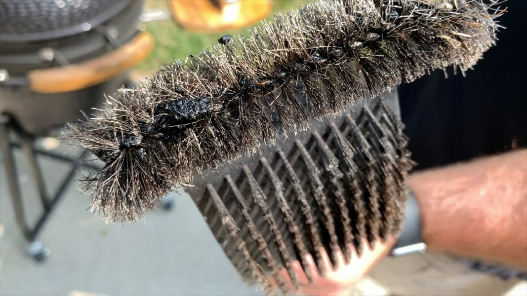 bristles from a metal grill brush can fall off and get into food.