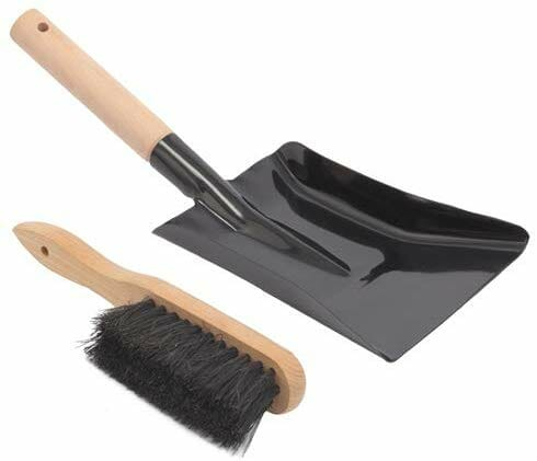 Aboniris Coal Shovel and Hearth Brush Set