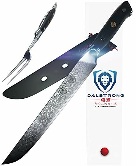DALSTRONG Carving Knife & Fork Set