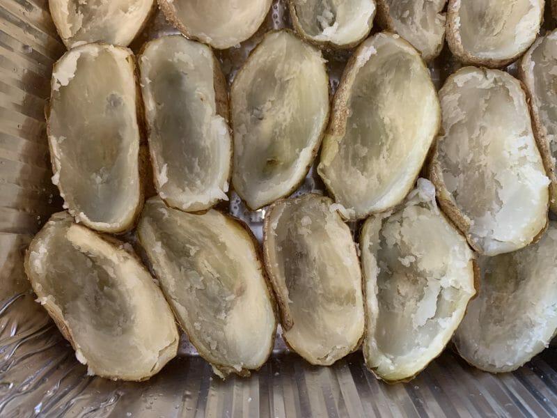 empty potato skins