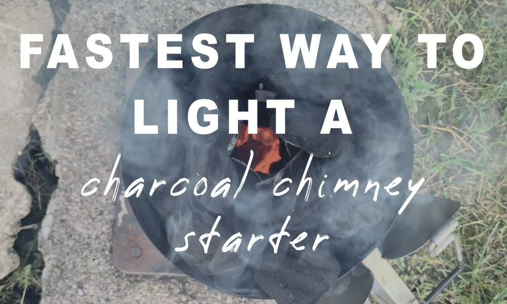 fastest way to light a charcoal chimney starter