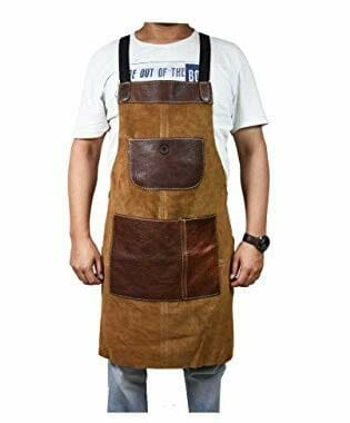 leather utility apron