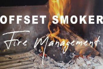 offset smoker fire management