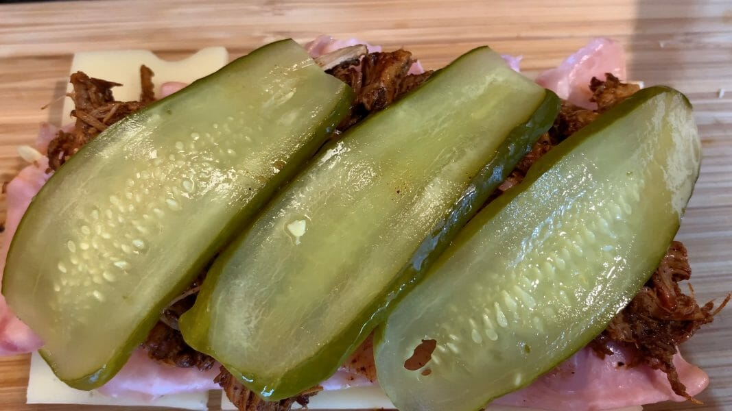 pickle slices on the Cubano recipe