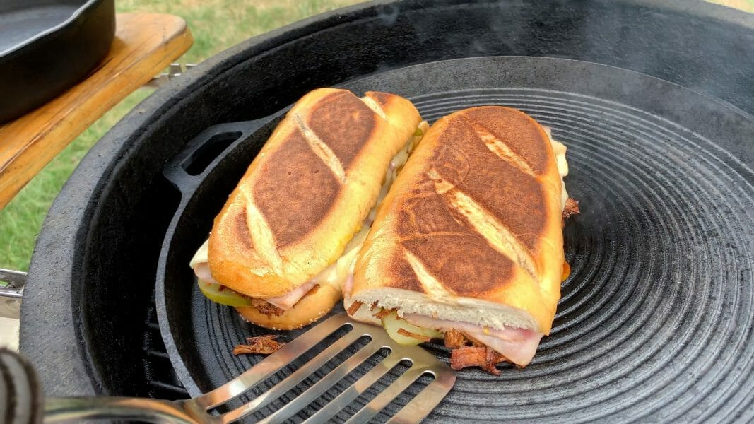 Fully toasted grilled Cuban sandwich