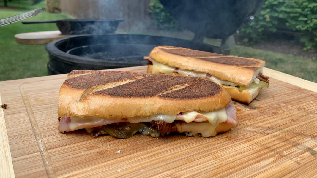 Cubano sandwiches hot off the grill
