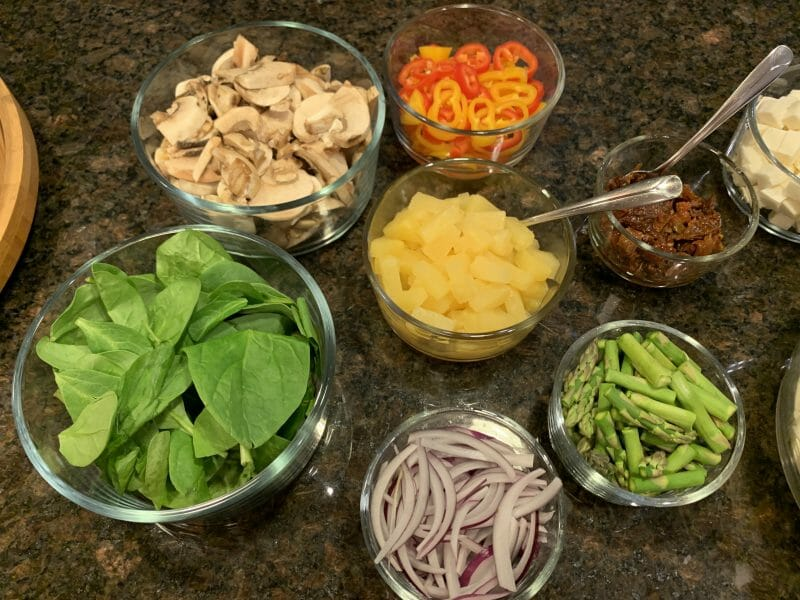 vegetable toppings