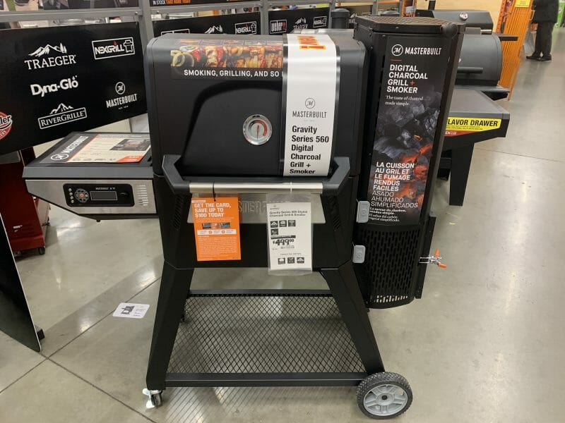 Masterbuilt gravity fed at Home Depot