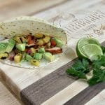 achiote chicken taco with grilled pineapple salsa