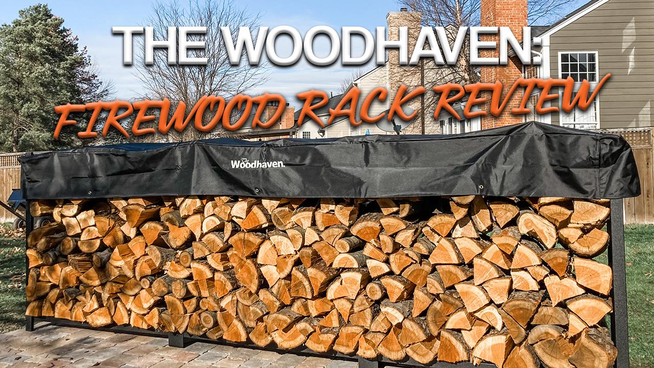 Woodhaven firewood rack title image