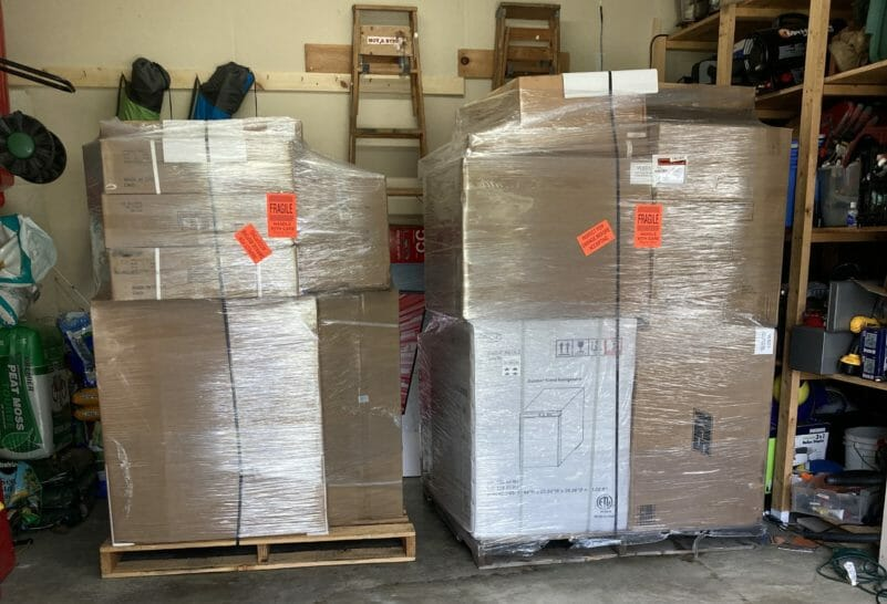 2 pallets loaded with the ARG36 and others for our ODK
