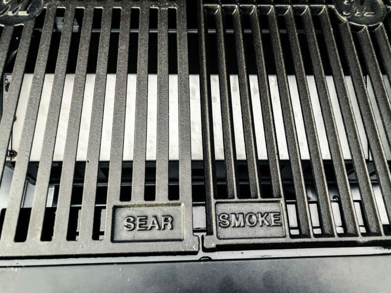 side by side view of sear and smoke grates