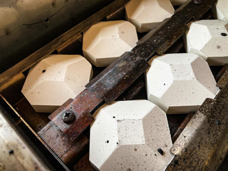 fire bricks inside the American Renaissance gas grill