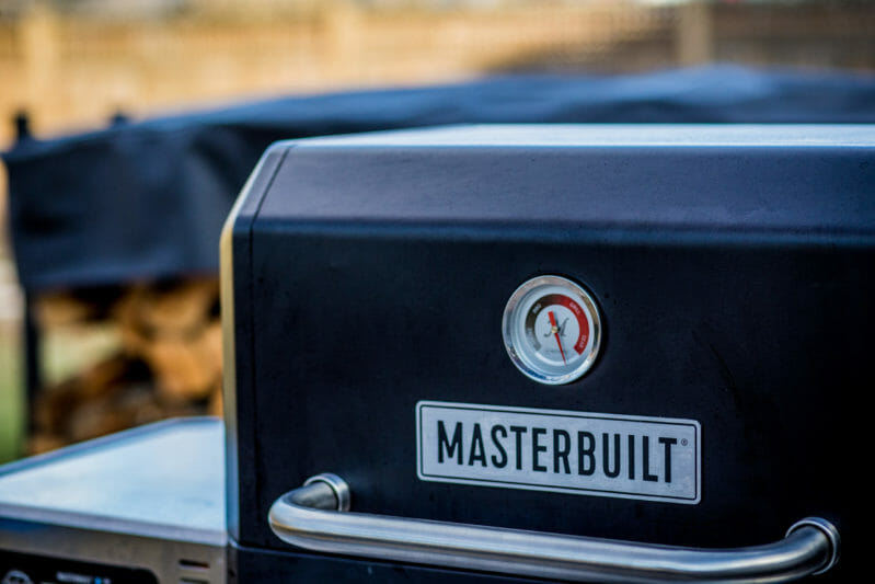 close-up of Masterbuilt