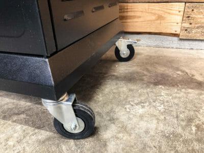 Locking caster wheels