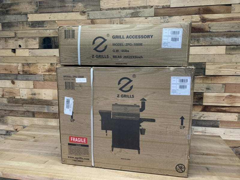 Z Grills 1000E in boxes