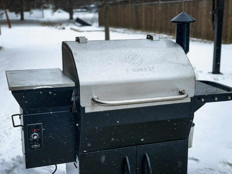 cold weather grilling on the Z Grills 1000E