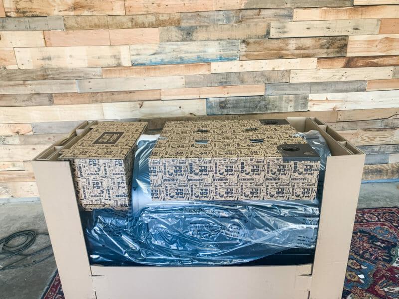 Traeger Ironwood packed inside box