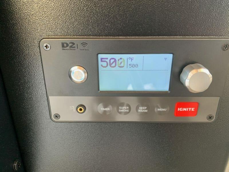 Traeger Ironwood control panel