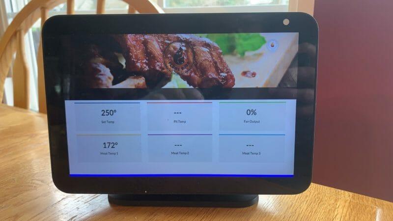 Alexa device showing voice commands