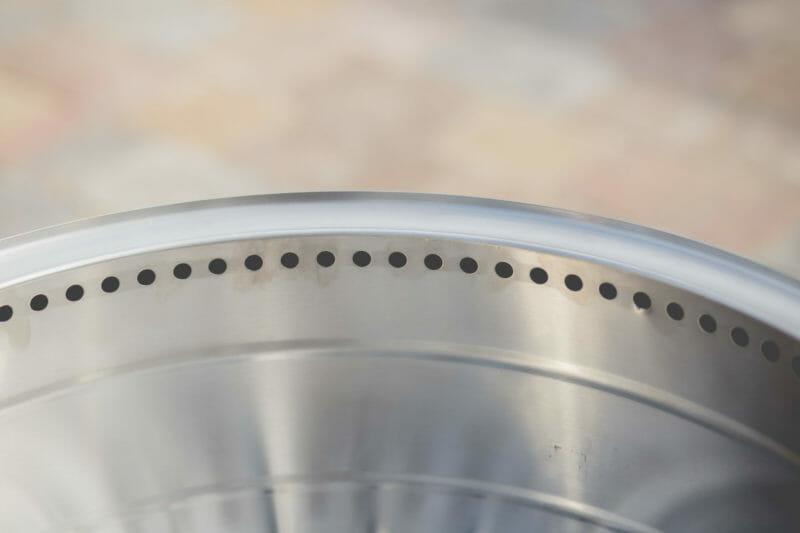 holes around the top