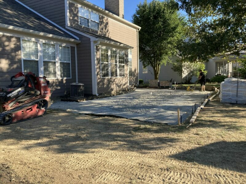 partially tamped paver base