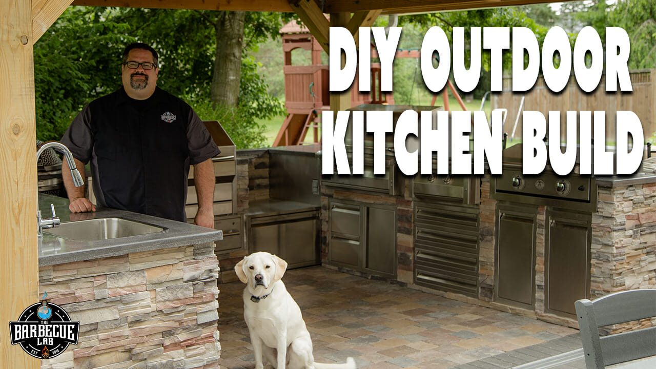 Outdoor kitchen build title image