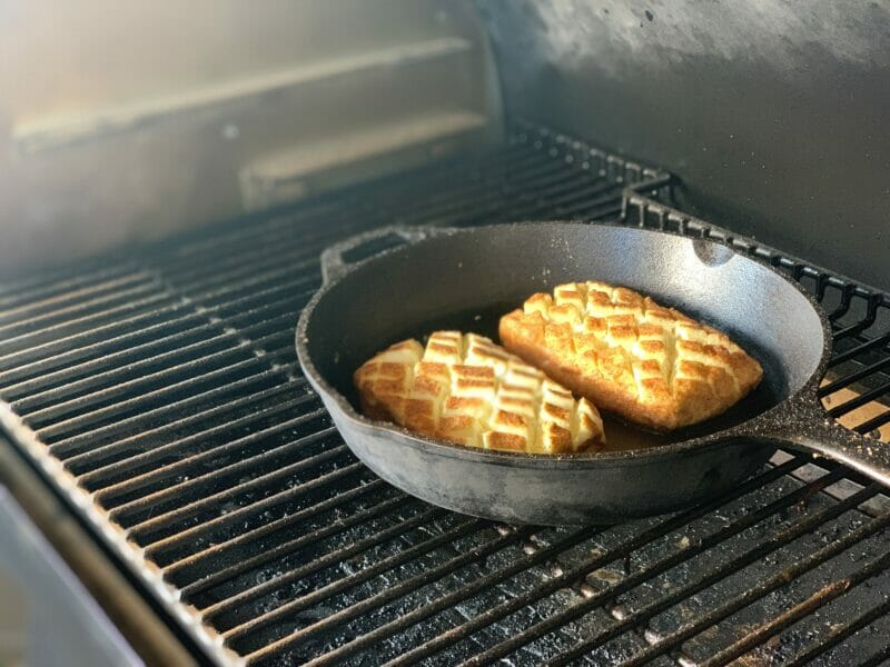 Pellet grill smoked cream cheese