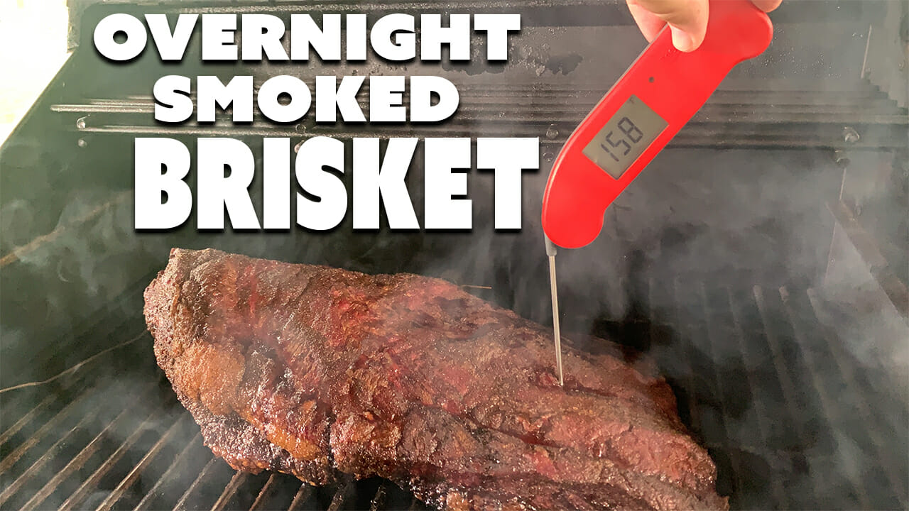 How to smoke a brisket in a pellet grill title image