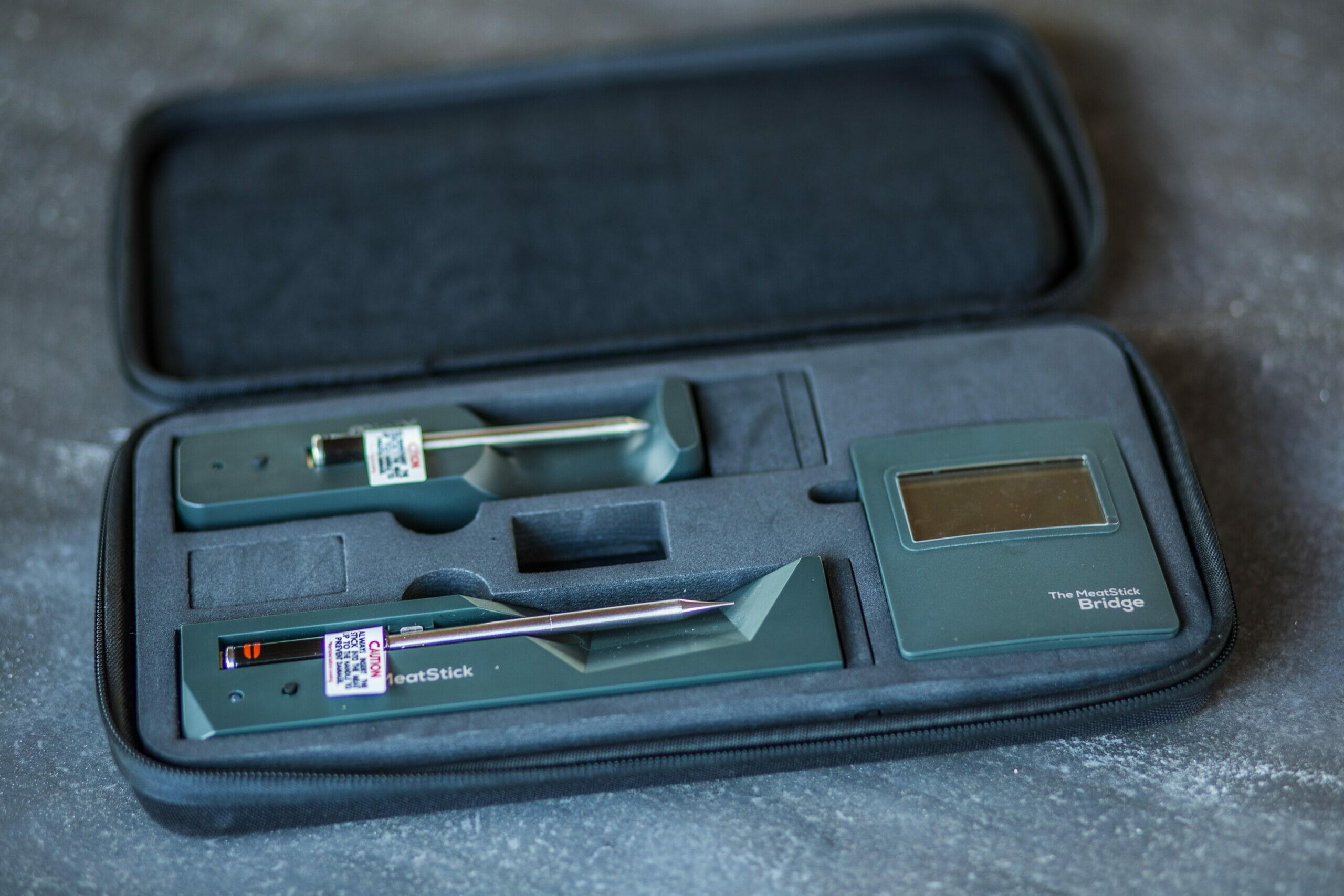 the MeatStick WiFi Pro combo set carrying case